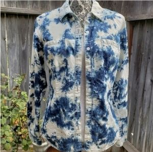 MOSSIMO Tie Dye Button Up